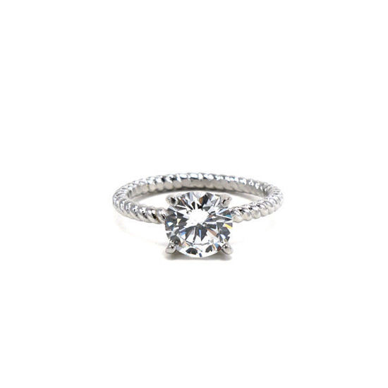 Picture of Stone Ring Stainless Steel CZ High Quality