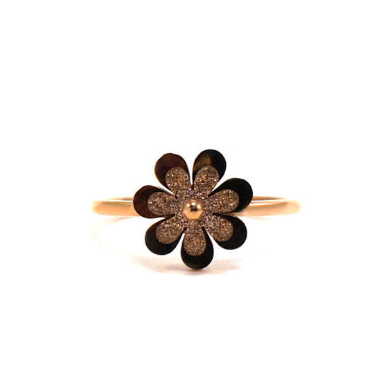 Picture of Rose Gold Flower Stainless Steel Ring
