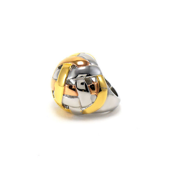 Picture of Stainless Steel Ring Tree Gold Plating Polished