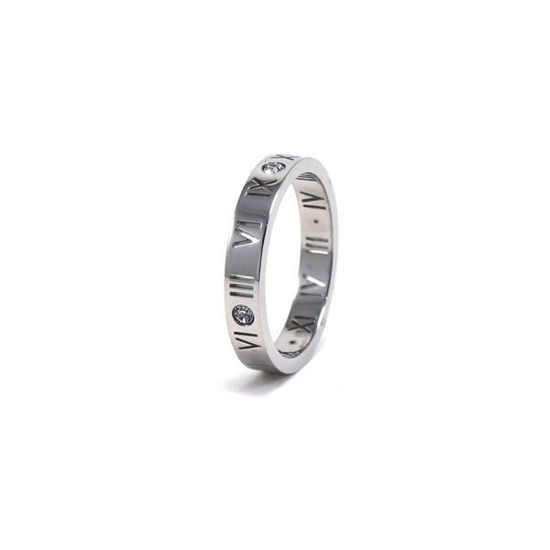 Picture of Roman Numerals Band Ring Stainless Steel