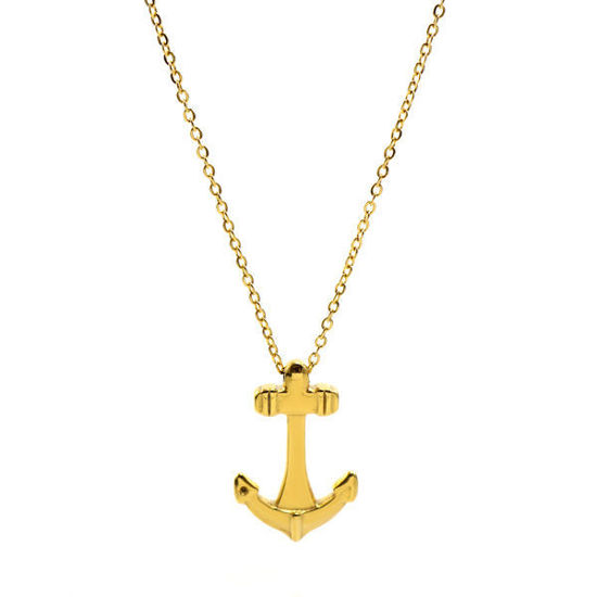 Picture of Anchor Necklace Stainless Steel  Gold Plating