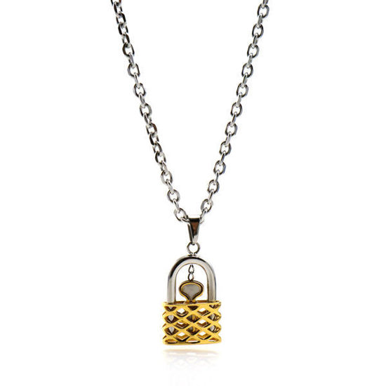 Picture of Lock Necklace Stainless Steel