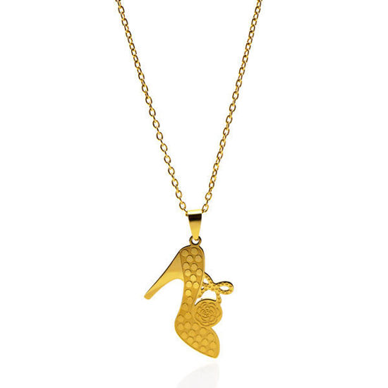 Picture of Heel  Necklace Stainless Steel Gold Plating