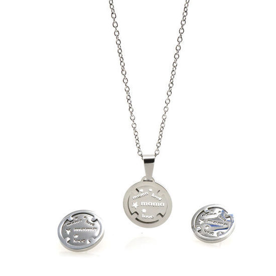 Picture of Mother's  Necklace Stainless Steel High Polished