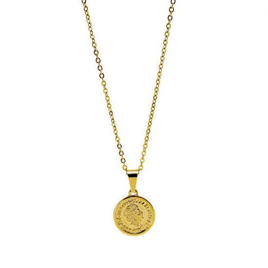 Picture of Coin Pendant Necklace Stainless Steel