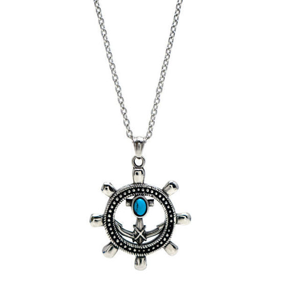 Picture of Rudder Pendant Necklace Stainless Steel