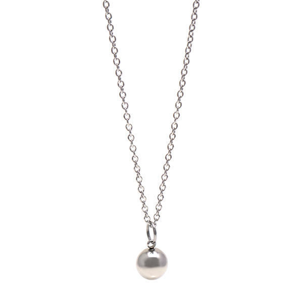Picture of Stainless Steel Bead Silver Necklace