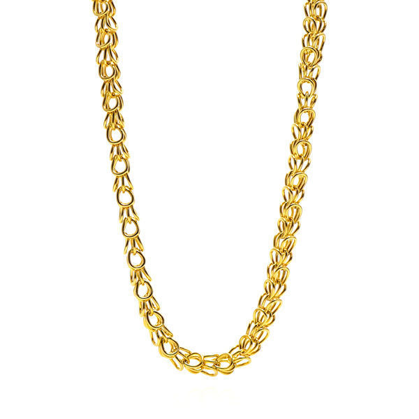 Picture of Byzantine Women Necklace Gold Stainless Steel