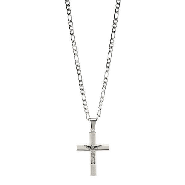 Picture of Religious Crucifix Necklace Stainless Steel