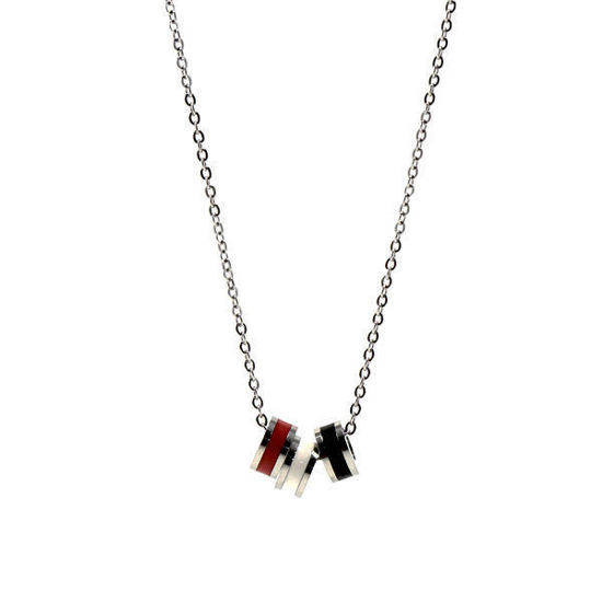 Picture of Pendant Colour Ring Necklace Stainless Steel
