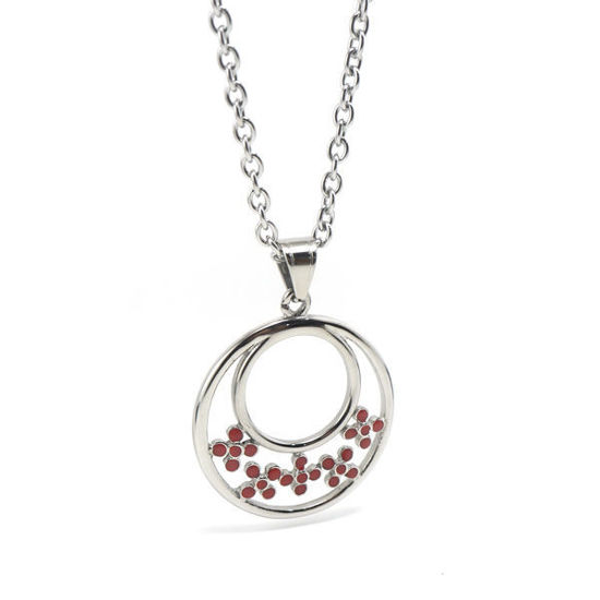 Picture of Flower  Pendant Stainless Steel Necklace