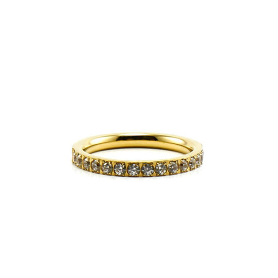 Picture of Band Ring CZ Stainless Steel Ring