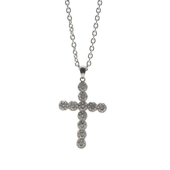 Picture of Crucifix Crystal Necklace Stainless Steel