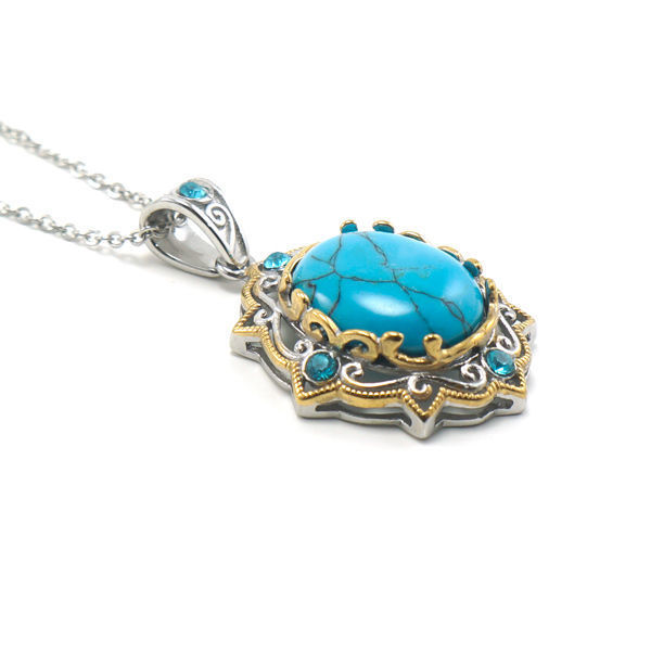 Picture of Vintage Cabochon Boho Necklace Stainless Steel